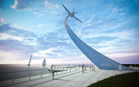 Image of proposed Spitfire memorial to be built in Southampton