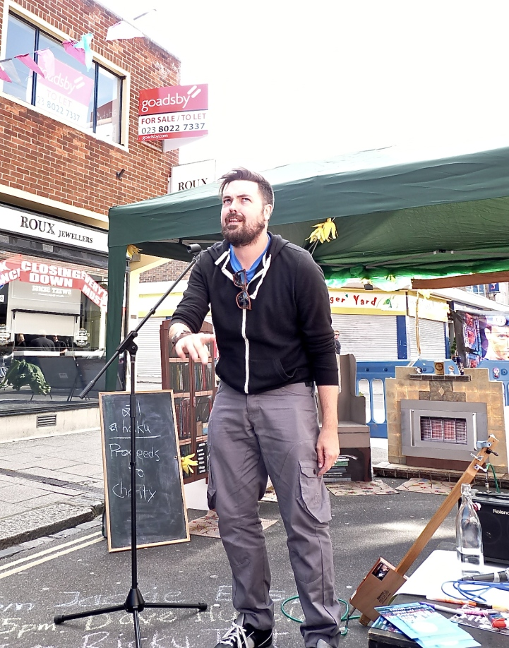Dave Tart the Poet at East Street Arts Festival, Southampton