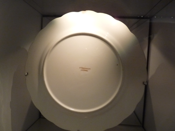 Unused White Star Line plate for 2nd class passengers of The Titanic